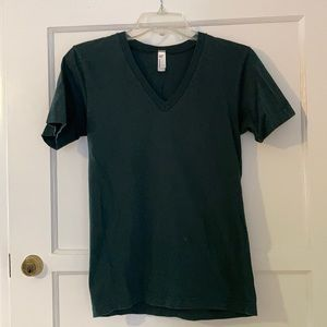 American Apparel forest green v-neck tee